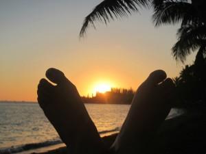 Relaxation avec les pieds en éventail