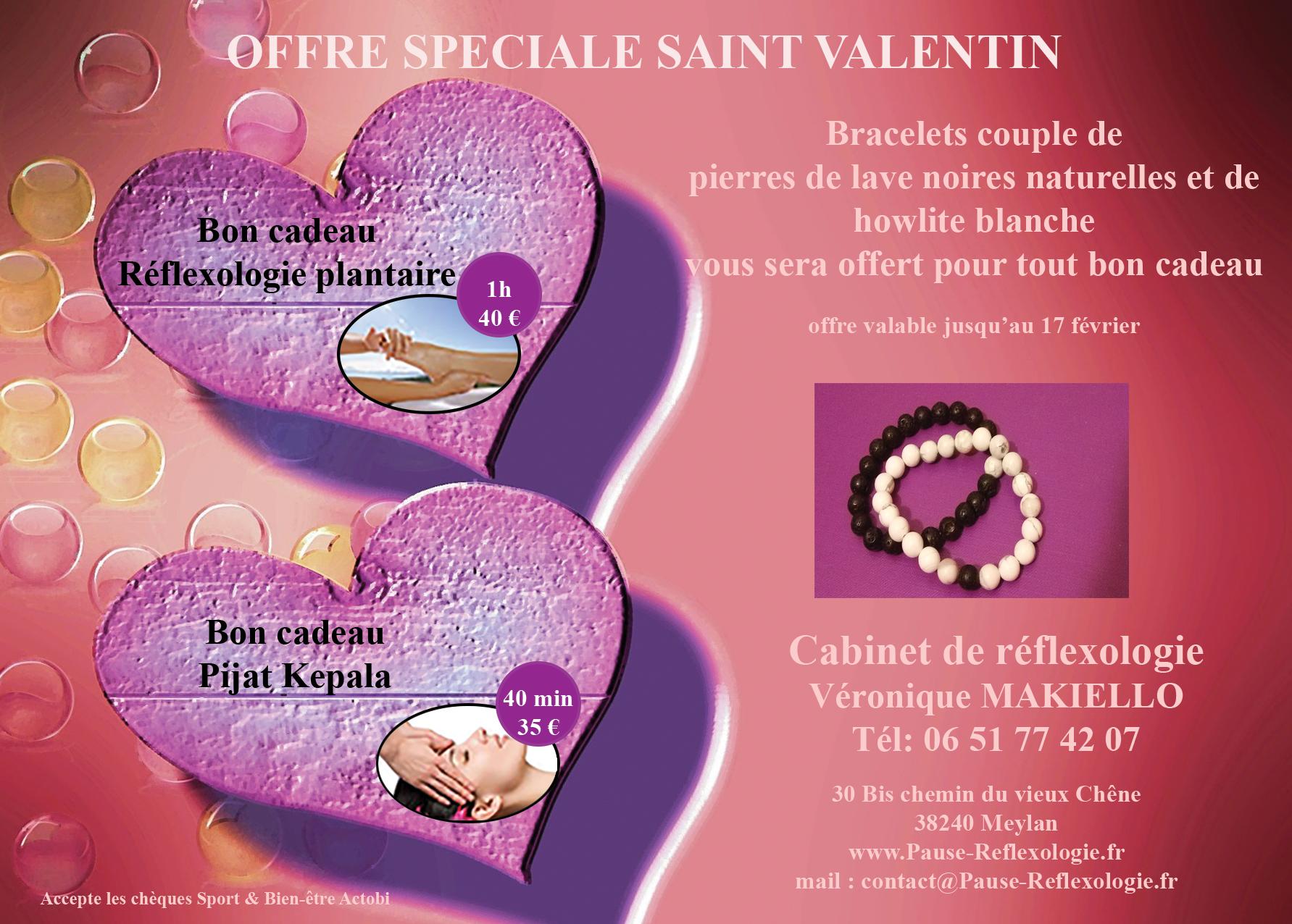 Idée cadeau pour la saint Valentin : réflexologie, massage, détente, relaxation, bien-être à Meylan, près de Grenoble, Isère